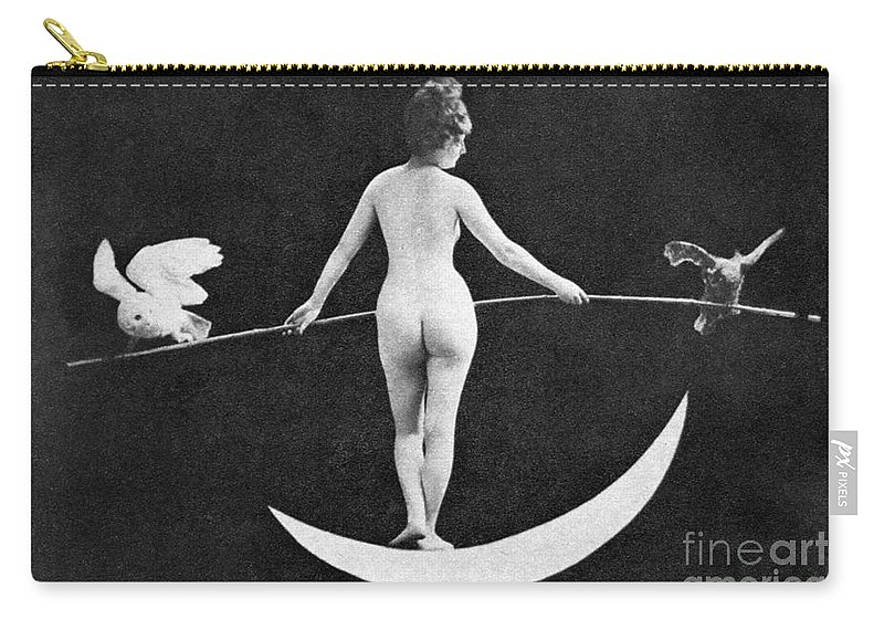 Carry-all Pouch featuring the painting Nude Allegory, 1890s by Granger