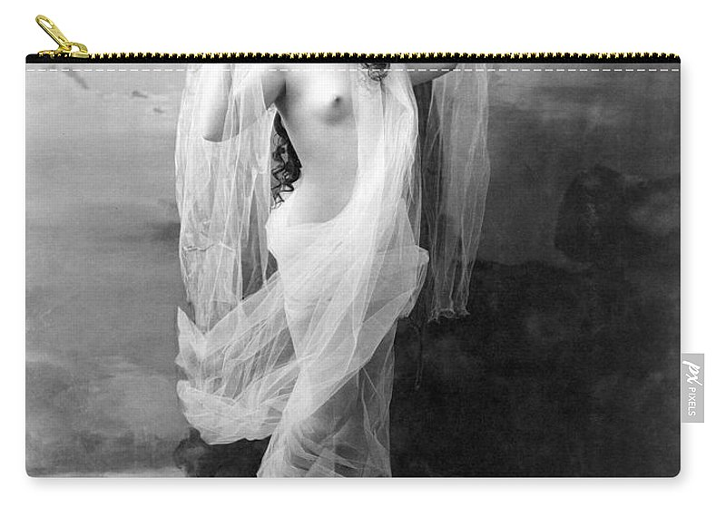 1900 Carry-all Pouch featuring the painting Nude, C1900 by Granger