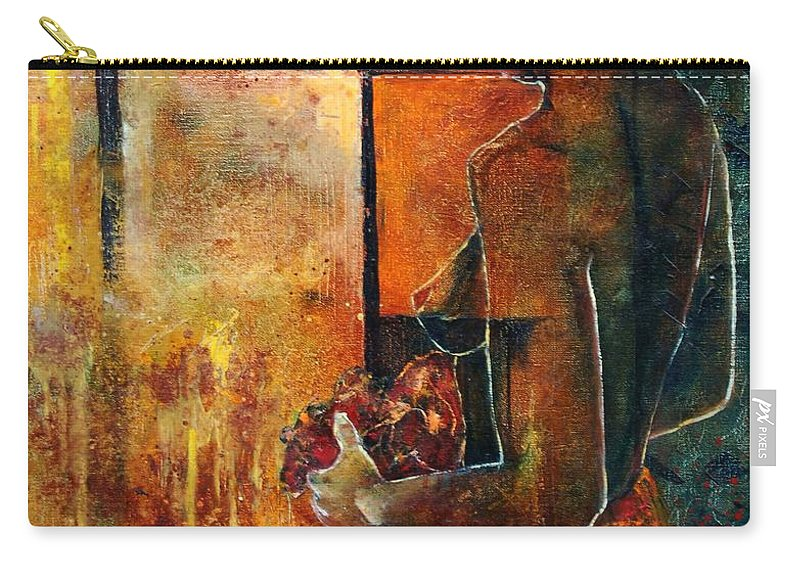 Woman Girl Fashion Nude Carry-all Pouch featuring the painting Nude by Pol Ledent