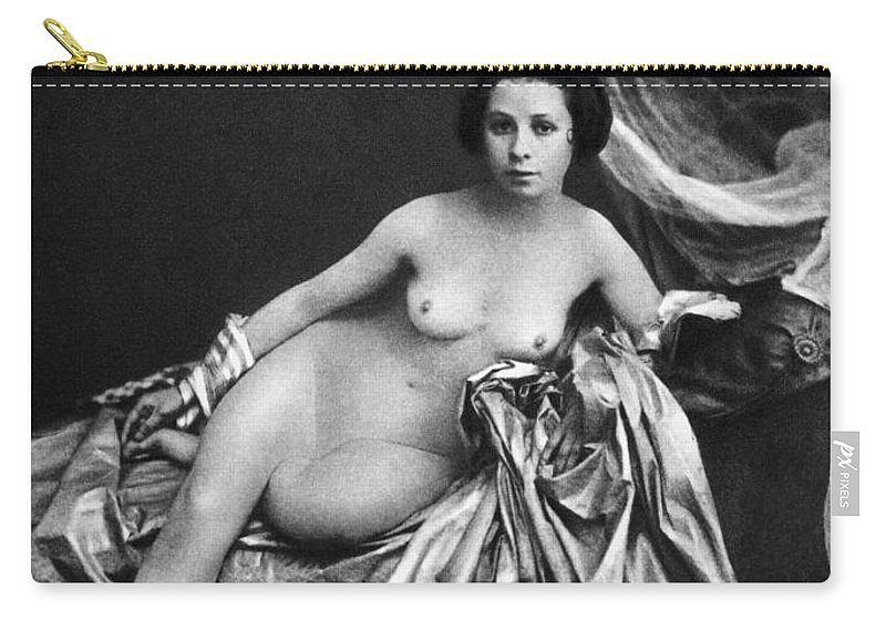 Carry-all Pouch featuring the painting Nude Posing, 1855 by Granger