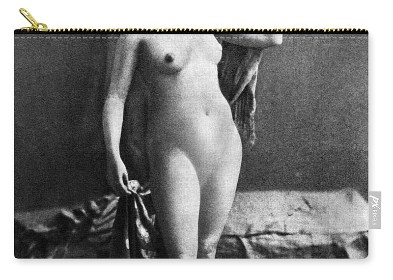 Carry-all Pouch featuring the painting Nude Posing, C1855 by Granger