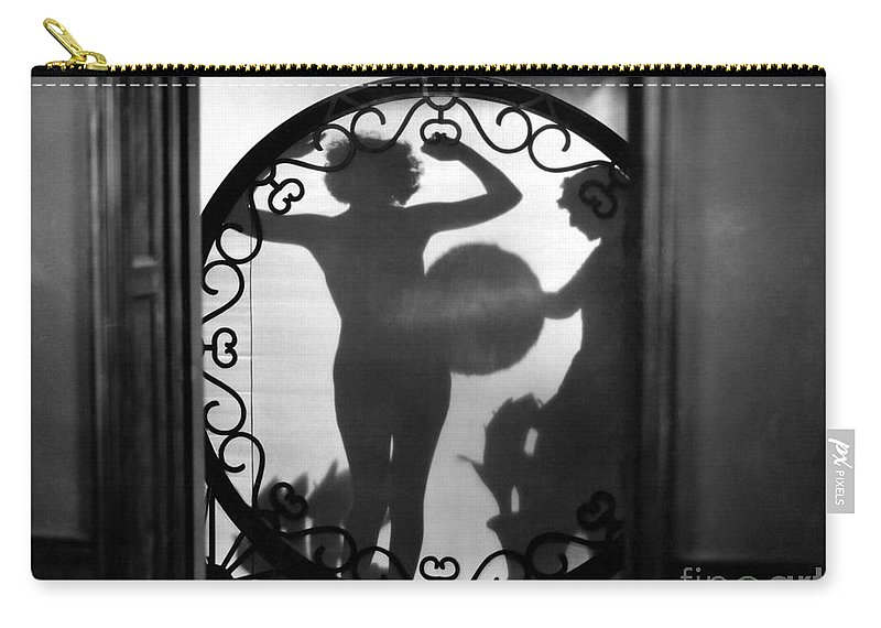 1920s Carry-all Pouch featuring the painting Nude Shadow, 1920s by Granger