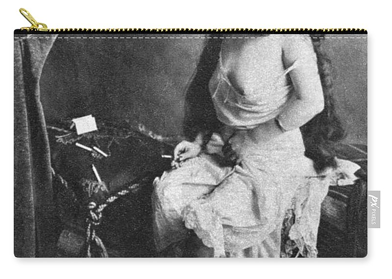 Carry-all Pouch featuring the painting Nude Smoking, 1913 by Granger