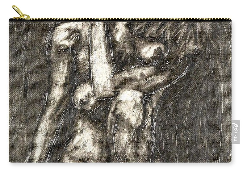 Clay Carry-all Pouch featuring the painting Nude by Thomas Valentine