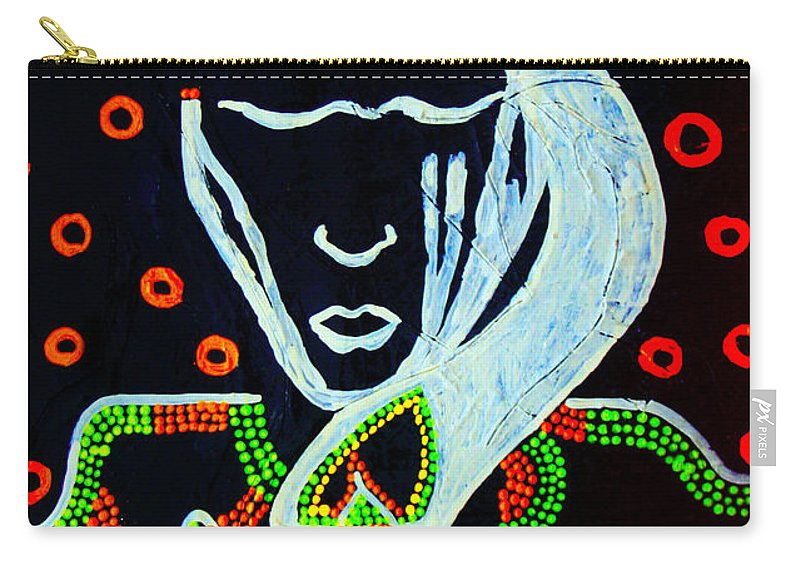 Jesus Carry-all Pouch featuring the painting Nuer Wise Virgin by Gloria Ssali