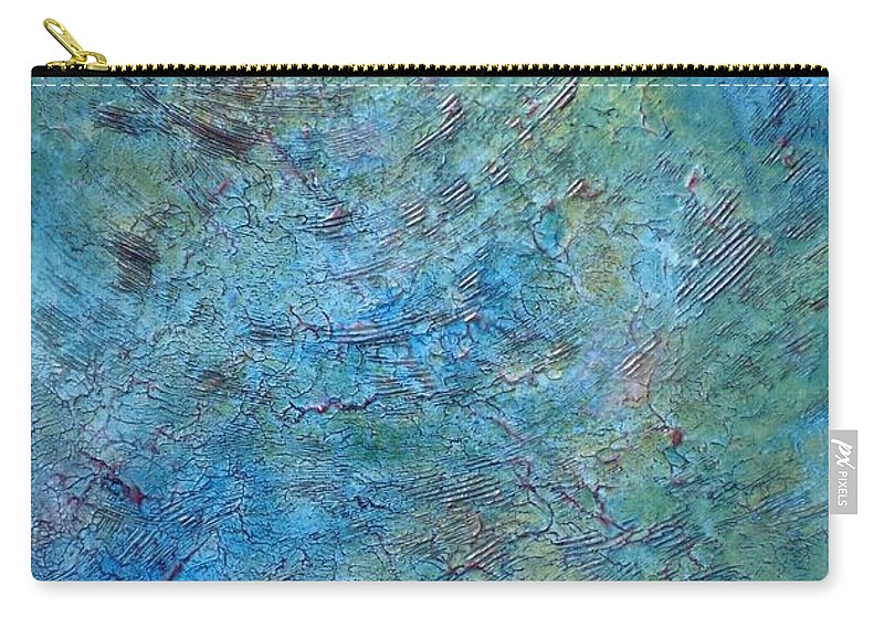 Martinadibella Carry-all Pouch featuring the painting Nuove Terre by Martina Di Bella