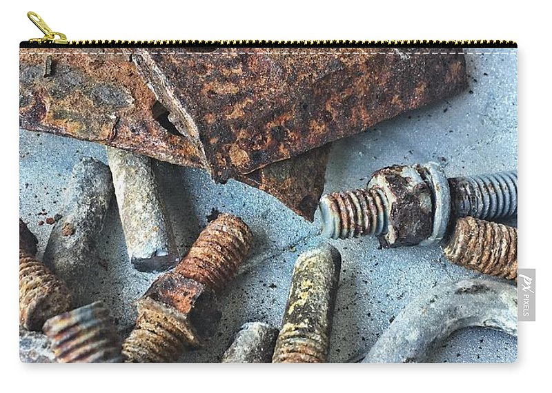 Carry-all Pouch featuring the photograph Nuts And Bolts by Elizabeth Harllee