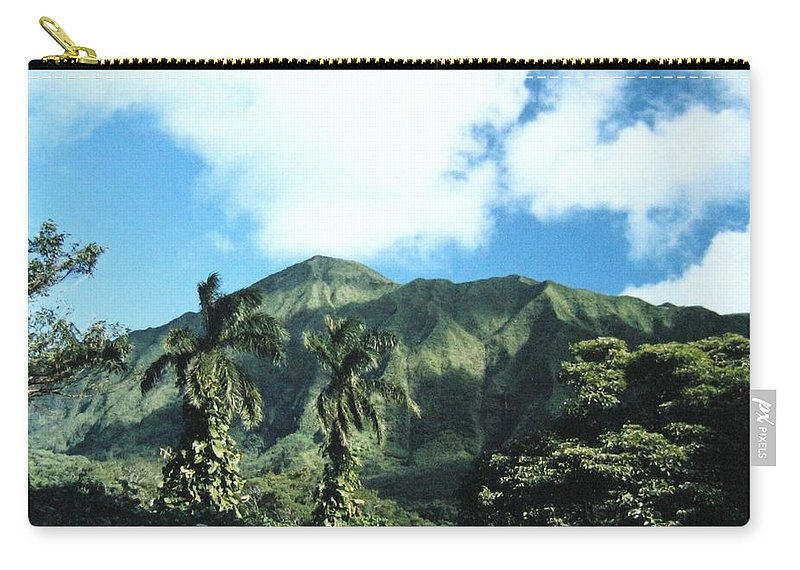 1986 Carry-all Pouch featuring the photograph Nuuanu Pali by Will Borden