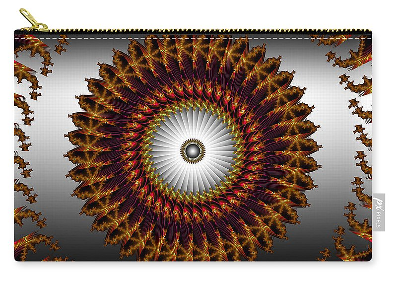 Fractal Carry-all Pouch featuring the digital art Ny Times by Robert Orinski