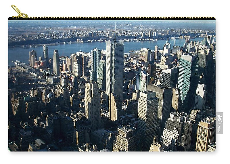 Nyc Carry-all Pouch featuring the photograph Nyc 1 by Anita Burgermeister
