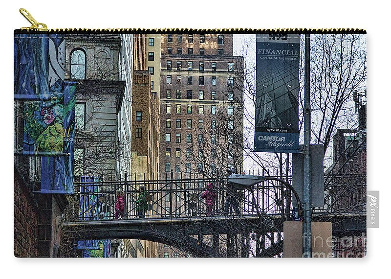 Nyc Carry-all Pouch featuring the photograph Nyc Crossings Daily Life Children by Chuck Kuhn
