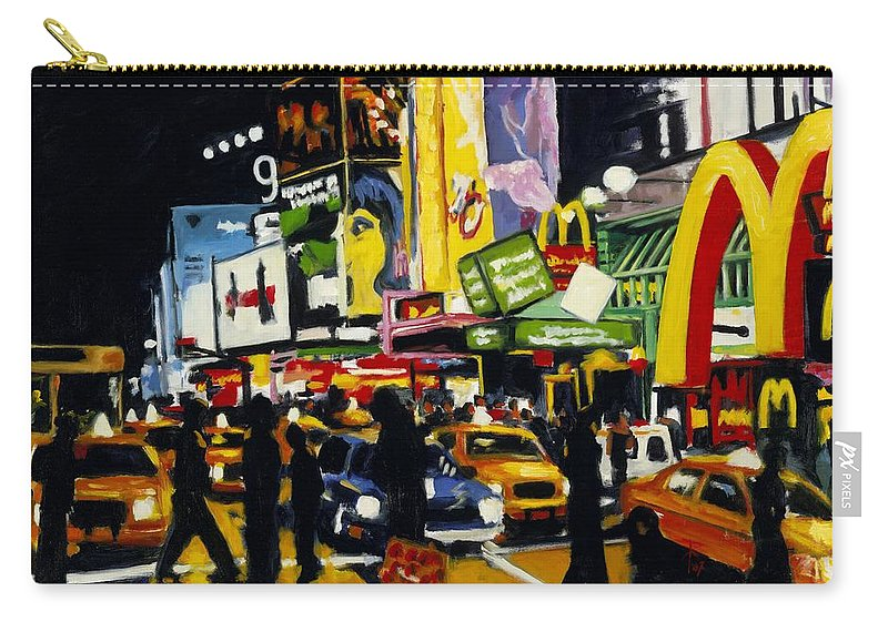 New York Carry-all Pouch featuring the painting Nyc II The Temple Of M by Robert Reeves