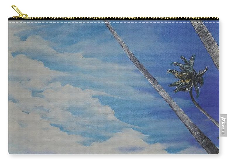 Trinidad And Tobago Seascape Carry-all Pouch featuring the painting Nylon Pool Tobago. by Karin Dawn Kelshall- Best