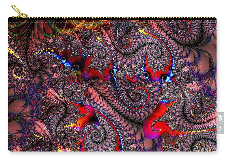 Nylon Carry-all Pouch featuring the digital art Nylon Reinforced by Ron Bissett