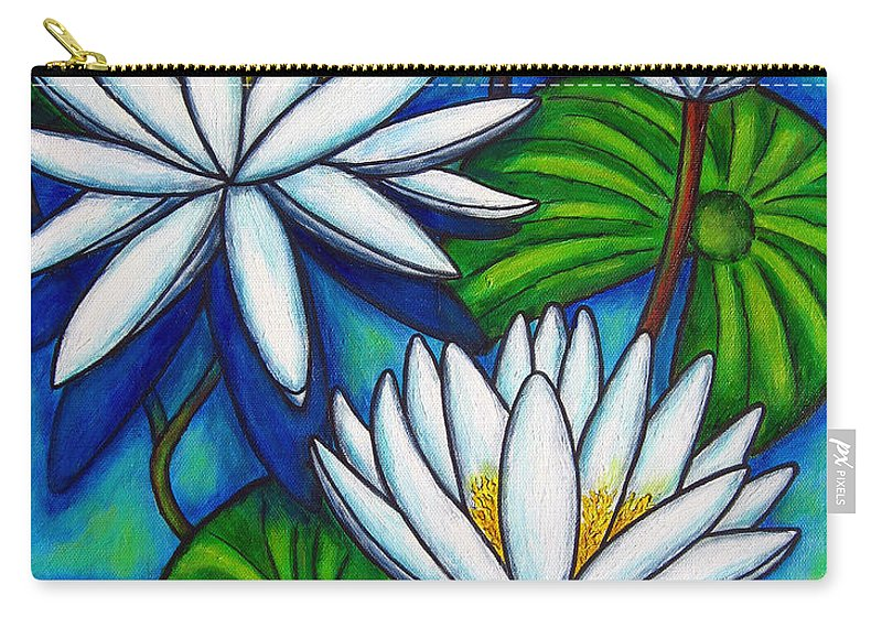 Lily Carry-all Pouch featuring the painting Nymphaea Blue by Lisa Lorenz