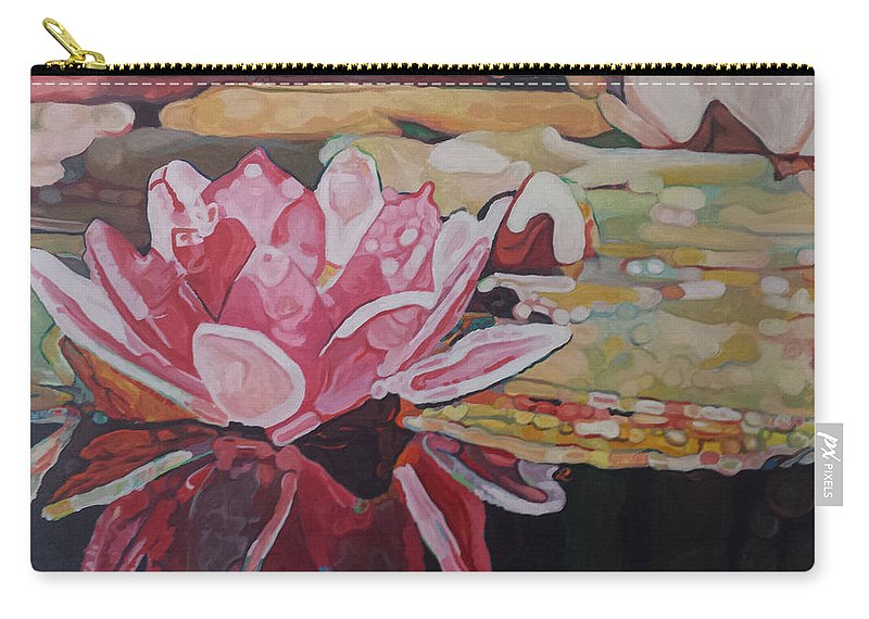Flower Carry-all Pouch featuring the painting Nymphea by Edwin Villavera