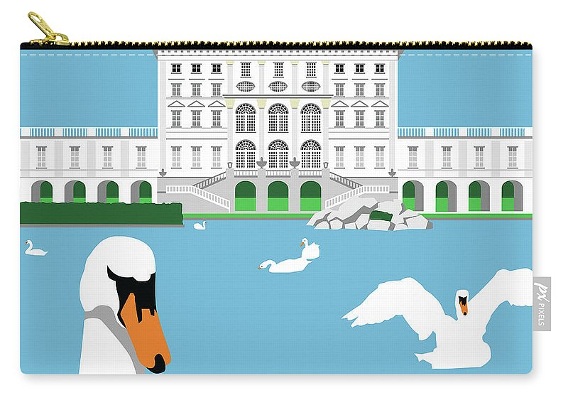 Palace Carry-all Pouch featuring the digital art Nymphenburg Palace by Alan Steele