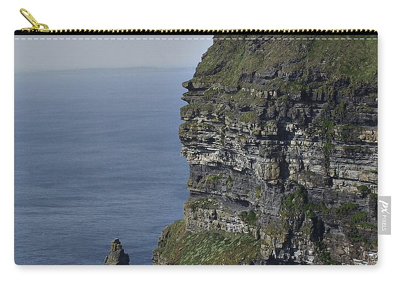 Irish Carry-all Pouch featuring the photograph O Brien's Tower At The Cliffs Of Moher Ireland by Teresa Mucha