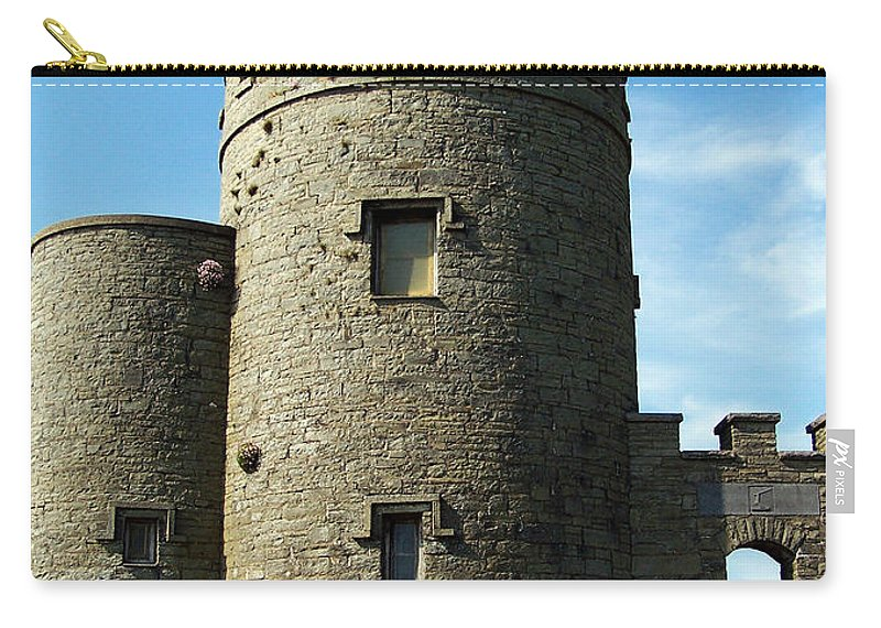 Irish Carry-all Pouch featuring the photograph O Brien's Tower Cliffs Of Moher Ireland by Teresa Mucha