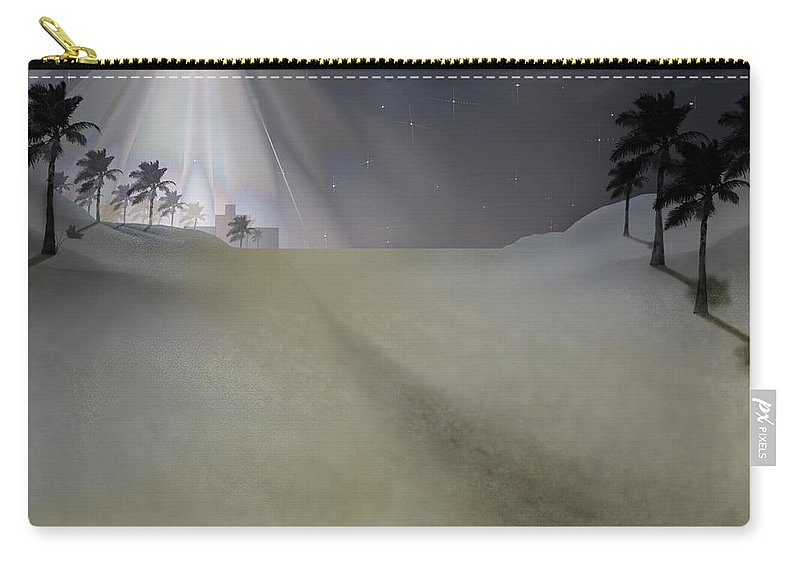 Brian Wallace Carry-all Pouch featuring the digital art O Little Town by Brian Wallace