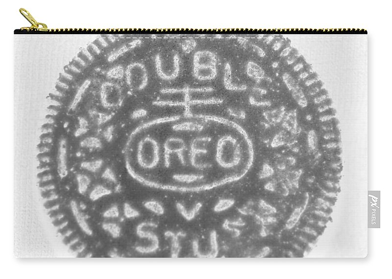 Oreo Carry-all Pouch featuring the photograph O R E O In Black Negative by Rob Hans