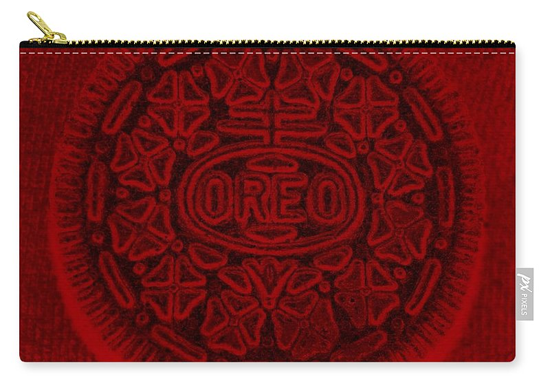 Oreo Carry-all Pouch featuring the photograph O R E O In Red by Rob Hans