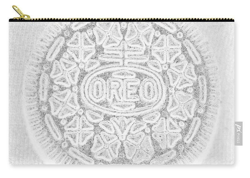 Oreo Carry-all Pouch featuring the photograph O R E O In White by Rob Hans