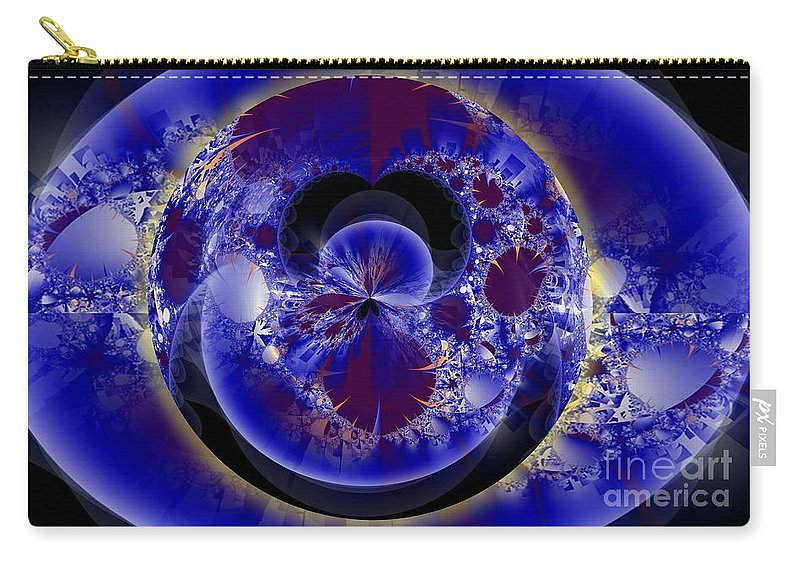 Fractal Carry-all Pouch featuring the digital art O by Ron Bissett