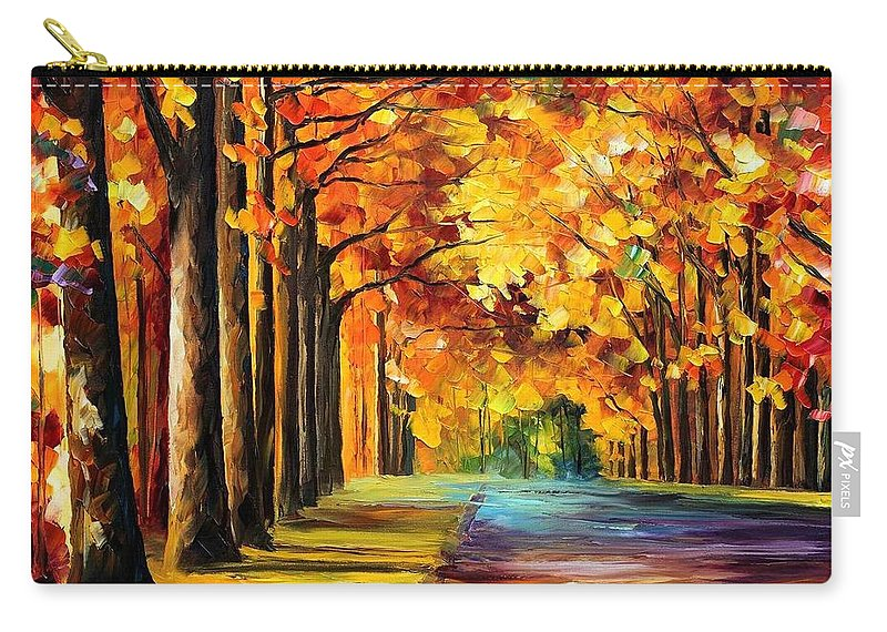 Afremov Carry-all Pouch featuring the painting Oak Alley by Leonid Afremov