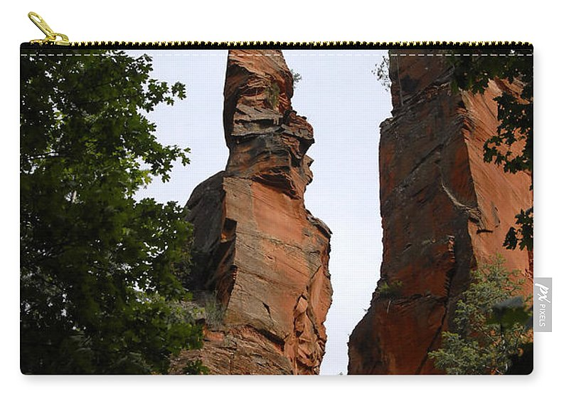 Oak Creek Canyon Arizona Carry-all Pouch featuring the photograph Oak Creek Canyon by David Lee Thompson