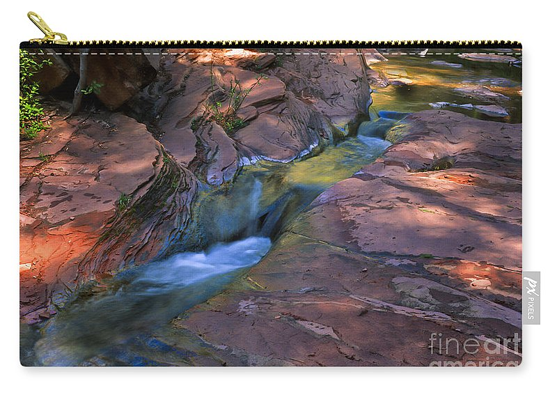 Southwest Carry-all Pouch featuring the photograph Oak Creek Canyon Splendor by Sandra Bronstein