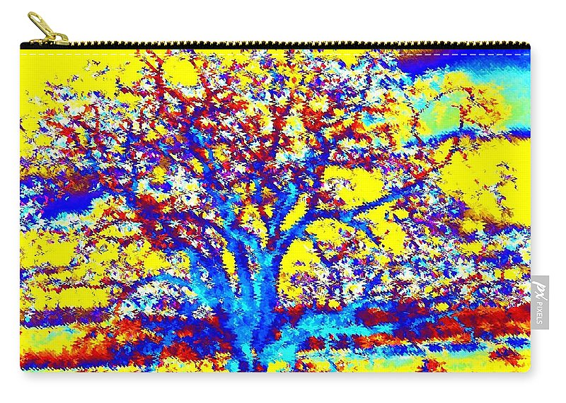 Willborden Carry-all Pouch featuring the digital art Oak Tree by Will Borden