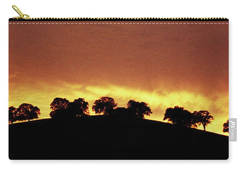 Oak Carry-all Pouch featuring the photograph Oaks On Hill At Sunset by Jim And Emily Bush