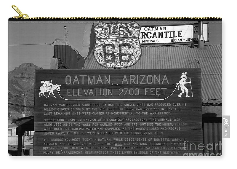 Oatman Arizona Carry-all Pouch featuring the photograph Oatman Arizona by David Lee Thompson