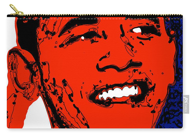 African Carry-all Pouch featuring the digital art Obama Hope by Rabi Khan