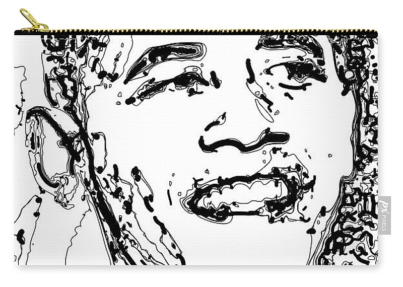 American Carry-all Pouch featuring the digital art Obama by Rabi Khan