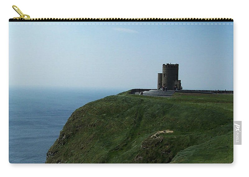 Irish Carry-all Pouch featuring the photograph O'brien's Tower At The Cliffs Of Moher Ireland by Teresa Mucha