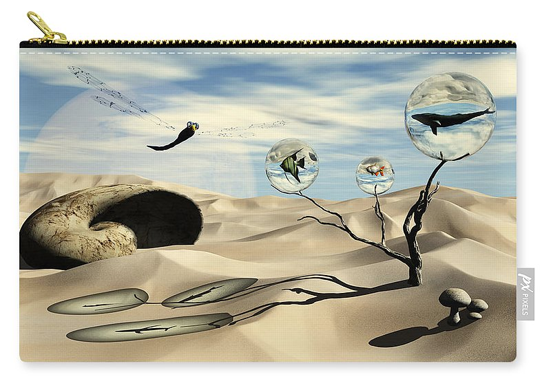 Surrealism Carry-all Pouch featuring the digital art Observations by Richard Rizzo