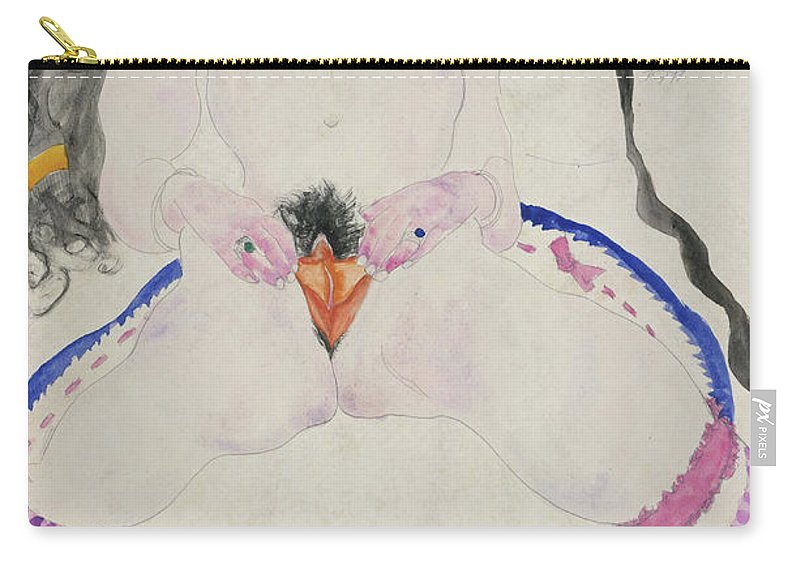Egon Carry-all Pouch featuring the painting Observed In A Dream by Egon Schiele