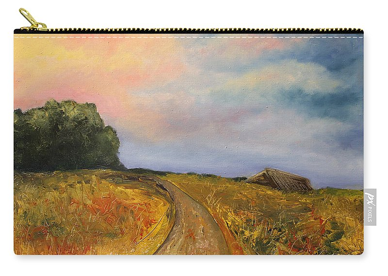 Landscape Carry-all Pouch featuring the painting Obviously Covered by Darko Topalski