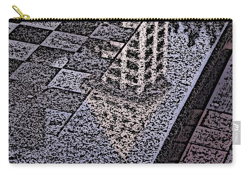 Seattle Carry-all Pouch featuring the digital art Occidental Park Checkerboard by Tim Allen