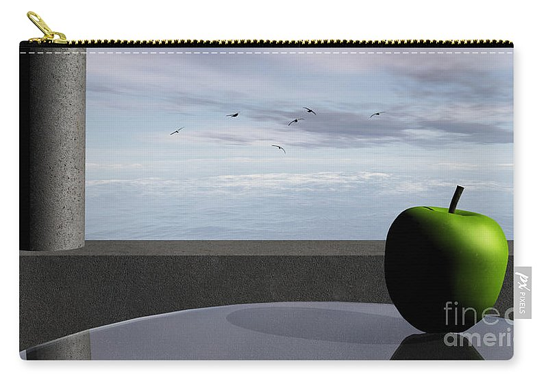 Modern Carry-all Pouch featuring the digital art Ocean Balcony by Richard Rizzo