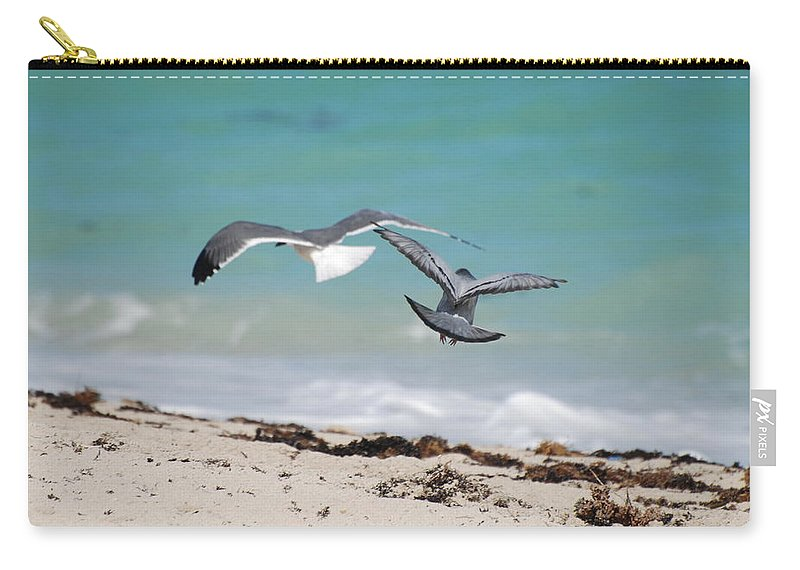 Sea Scape Carry-all Pouch featuring the photograph Ocean Birds by Rob Hans
