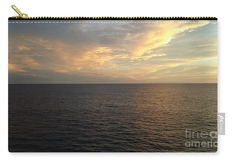 Landscape Carry-all Pouch featuring the photograph Ocean Blue 2 by Alan Whittington