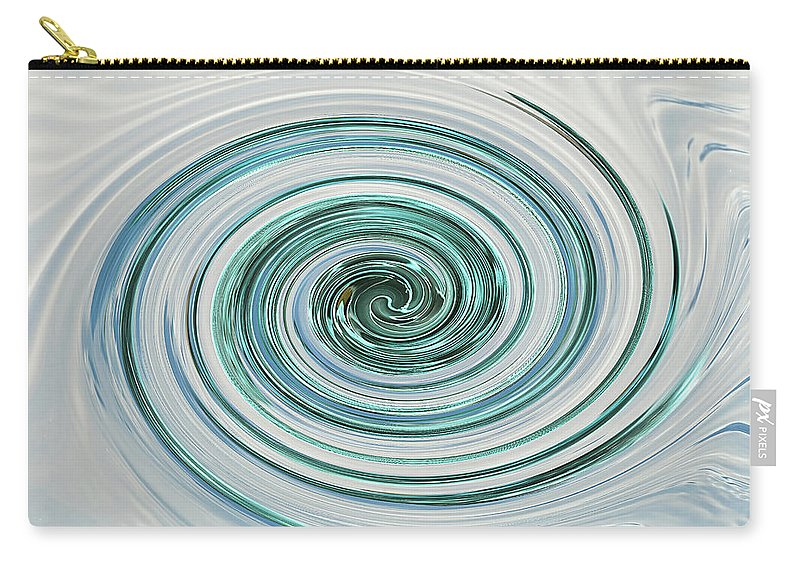 Blue And Cream Abstract Carry-all Pouch featuring the photograph Ocean Blue Whip by Gill Billington