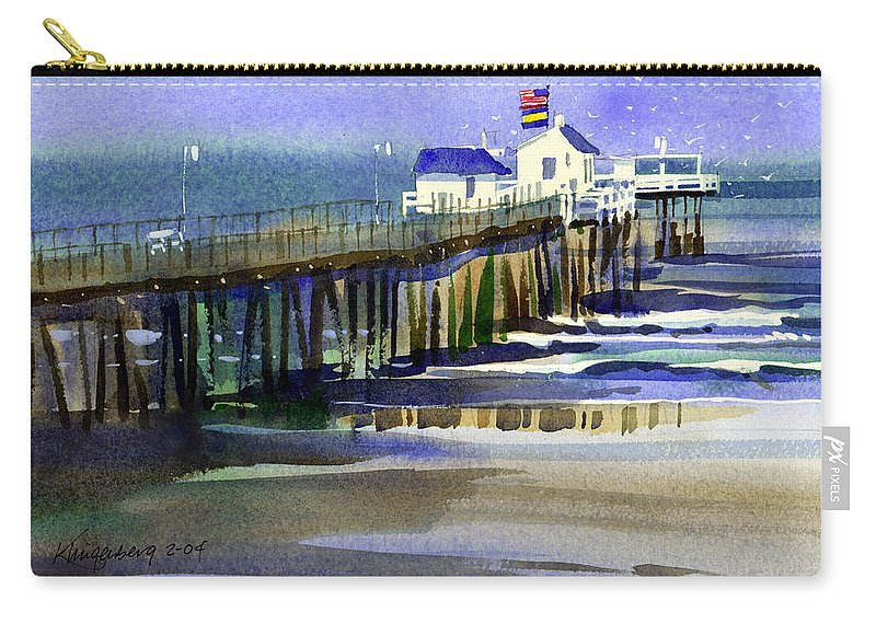 Ocean Carry-all Pouch featuring the painting Ocean City Fishing Club by Lee Klingenberg