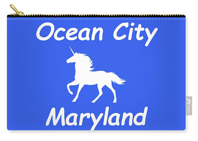 Ocean City Carry-all Pouch featuring the photograph Ocean City Md by Robert Banach