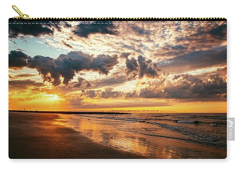 J. Zaring Carry-all Pouch featuring the photograph Ocean City Morning by Joshua Zaring