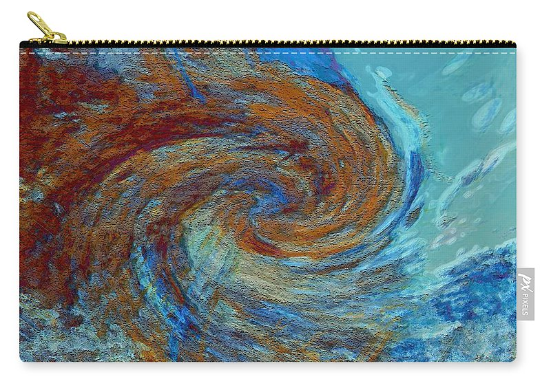 Hurricane Carry-all Pouch featuring the digital art Ocean Colors by Linda Sannuti