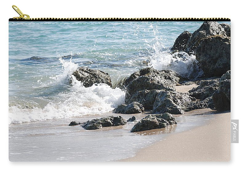 Ocean Carry-all Pouch featuring the photograph Ocean Drive Rocks by Rob Hans